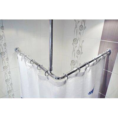 Beytug Textile Metal Shower Curtain Rail