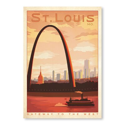 Americanflat St. Louis by Anderson Design Group Vintage Advertisement Wrapped on Canvas