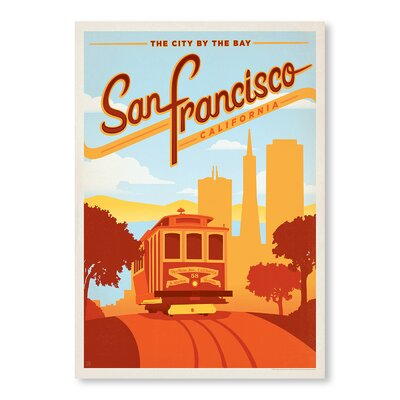 Americanflat San Francisco Vintage Advertisement Wrapped on Canvas
