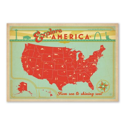 Americanflat Explore America by Anderson Design Group Vintage Advertisement