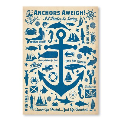 Americanflat Anchor Pattern Print by Anderson Design Group Graphic Art