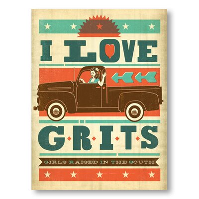 Americanflat Grits by Anderson Design Group Vintage Advertisement Wrapped on Canvas