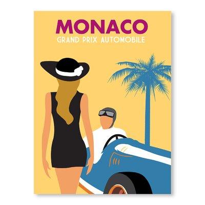 Americanflat Monaco Grand Prix Automobile by Alan Walsh Vintage Advertisement