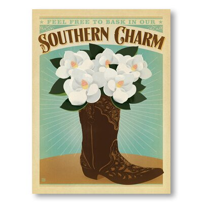 Americanflat Southern Charm Boot by Anderson Design Group Vintage Advertisement Wrapped on Canvas