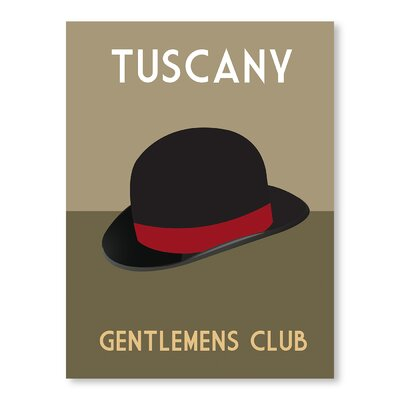 Americanflat Tuscany Gentlemens Club by Alan Walsh Vintage Advertisement in Green