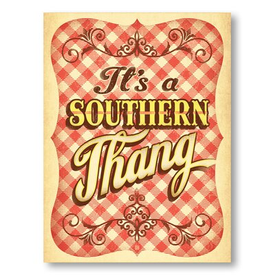 Americanflat Southern Thang by Anderson Design Group Vintage Advertisement Wrapped on Canvas