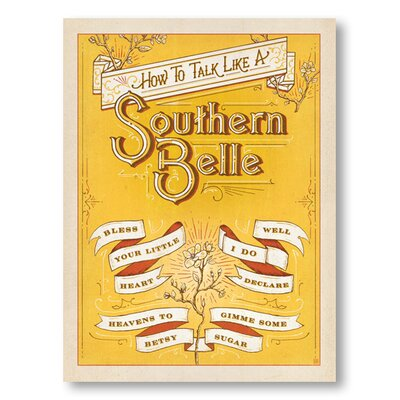 Americanflat Talk Southern Belle by Anderson design Group Vintage Advertisement Wrapped on Canvas