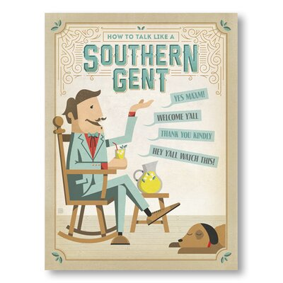 Americanflat Talk Southern Gent by Anderson Design Group Vintage Advertisement in Beige