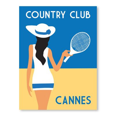 Americanflat Country Club, Cannes by Alan Walsh Vintage Advertisement