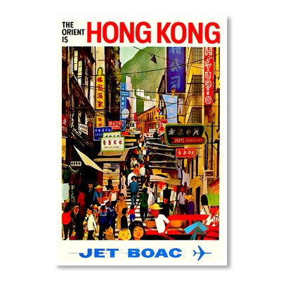 Americanflat Hong Kong by Chad Hyde Vintage Advertisement on Canvas