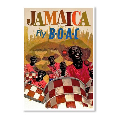 Americanflat Jamaica by Chad Hyde Vintage Advertisement Wrapped on Canvas