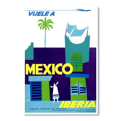 Americanflat Mexico Iberia by Chad Hyde Graphic Art Wrapped on Canvas