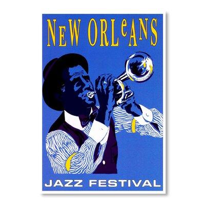 Americanflat New Orleans Jazz Festival Vintage Advertisement