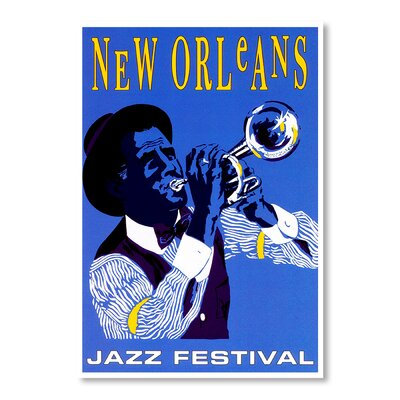 Americanflat New Orleans Jazz Festival Vintage Advertisement Wrapped on Canvas