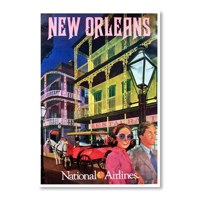 Americanflat New Orleans National Airways by Chad Hyde Vintage Advertisement Wrapped on Canvas