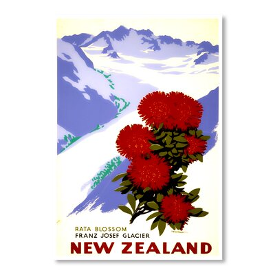 Americanflat New Zealand Glacier by Chad Hyde Vintage Advertisement Wrapped on Canvas