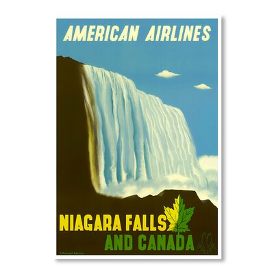 Americanflat Niagra Falls Canada by Chad Hyde Vintage Advertisement Wrapped on Canvas
