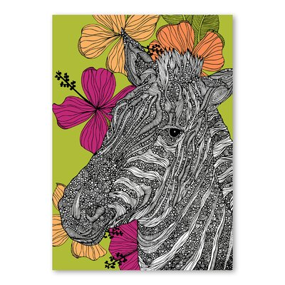 Americanflat Zebra by Valentina Ramos Graphic Art Wrapped on Canvas