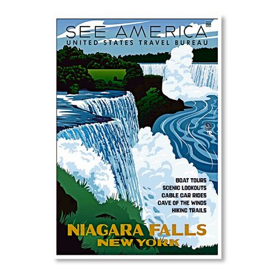 Americanflat Niagra Falls New York by Chad Hyde Vintage Advertisement on Canvas