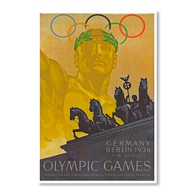 Americanflat Olympic Games by Chad Hyde Vintage Advertisement Wrapped on Canvas