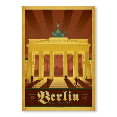 Americanflat Berlin by Anderson Design Group Vintage Advertisement Wrapped on Canvas