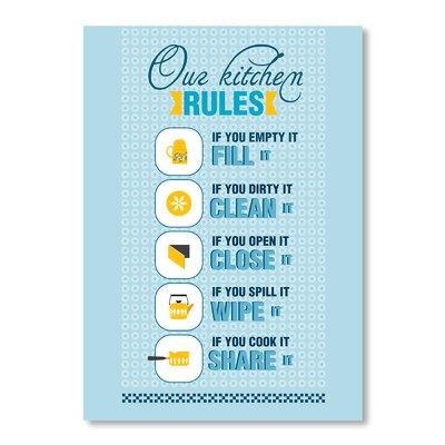 Americanflat Kitchen Rules by Patricia Pino Graphic Art Wrapped on Canvas