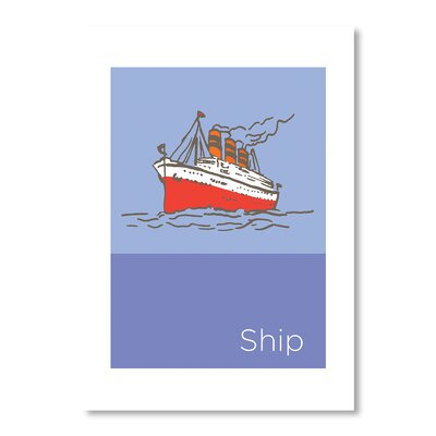 Americanflat Storybook Ship by Liz Lyons Graphic Art in Purple