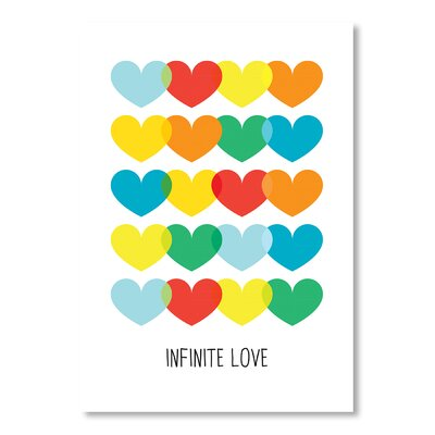 Americanflat Infinite Love by Patricia Pino Graphic Art Wrapped on Canvas