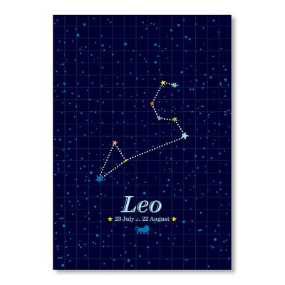 Americanflat Leo by Patricia Pino Graphic Art Wrapped on Canvas