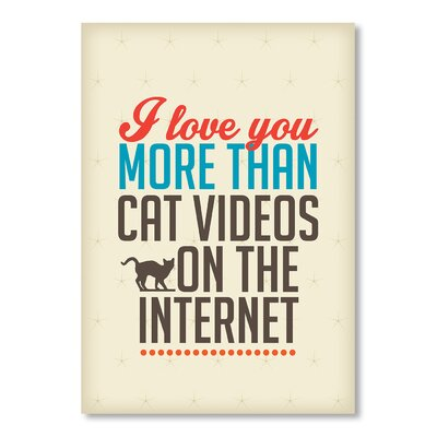 Americanflat Love Cat Videos by Patricia Pino Typography Wrapped on Canvas