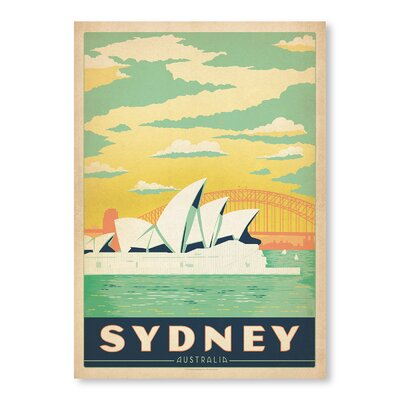 Americanflat Sydney by Anderson design Group Vintage Advertisement Wrapped on Canvas