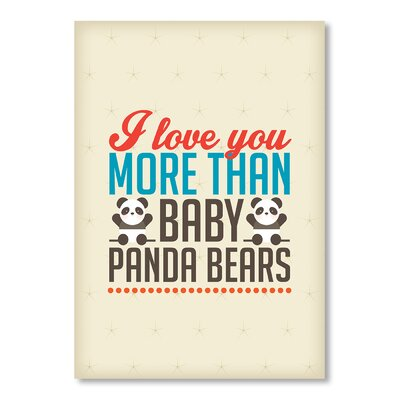 Americanflat Love Pandas by Patricia Pino Typography on Canvas