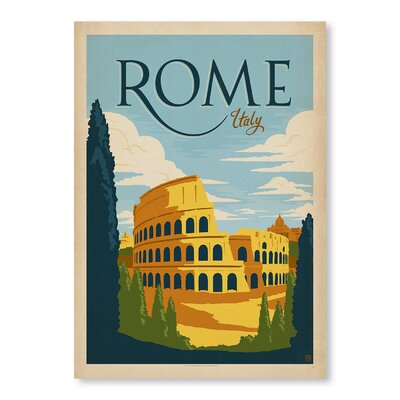 Americanflat Rome by Anderson Design Group Vintage Advertisement Wrapped on Canvas
