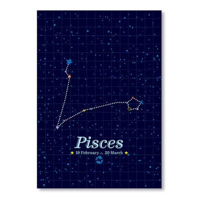 Americanflat Pisces by Patricia Pino Graphic Art in Blue