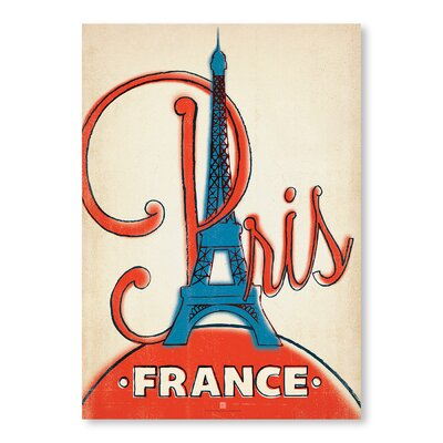 Americanflat Paris, France by Anderson Graphic Art Wrapped on Canvas