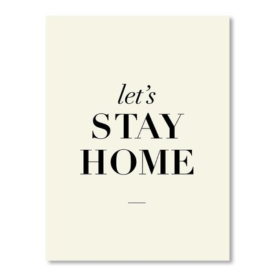 Americanflat Let's Stay Home by Brett Wilson Typography