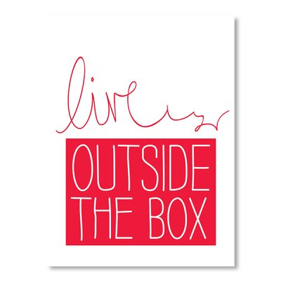 Americanflat Live Outside the Box Typography Wrapped on Canvas