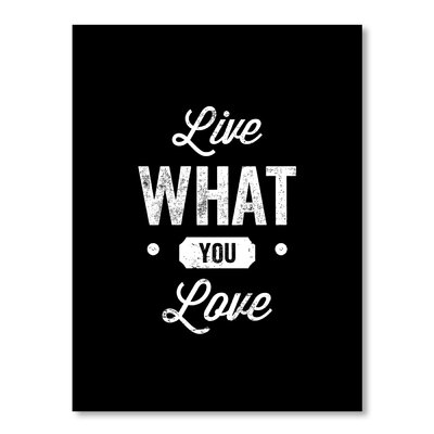 Americanflat Live What You Love by Brett Wilson Typography