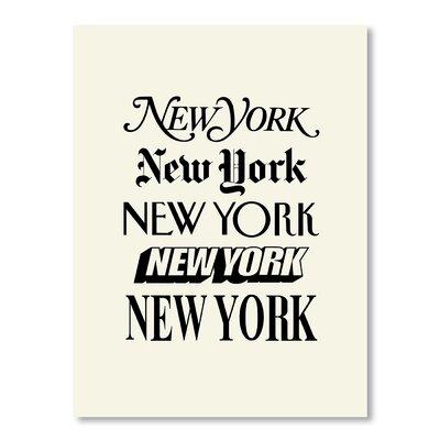 Americanflat New York by Brett Wilson Typography on Canvas