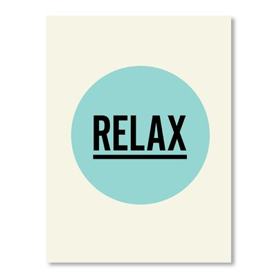 Americanflat Relax by Brett Wilson Typography Wrapped on Canvas