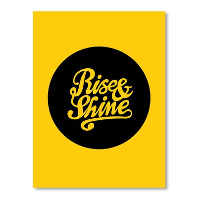 Americanflat Rise and Shine by Brett Wilson Typography Wrapped on Canvas