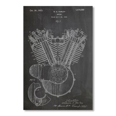 Americanflat Harley Engine 1923 by House of Borders Graphic Art