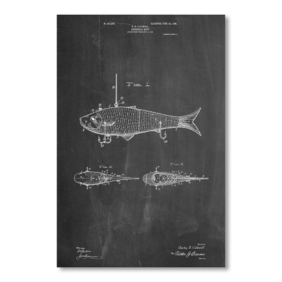 Americanflat Artificial Bait by House of Borders Graphic Art in Grey