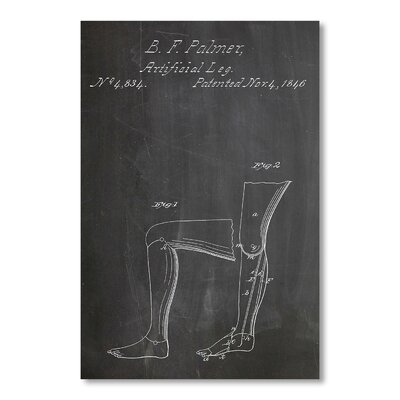 Americanflat Artificial Leg by House of Borders Graphic Art in Grey