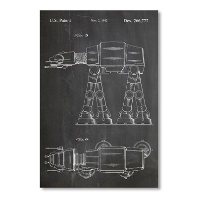 Americanflat At-At Walker by House of Borders Graphic Art in Grey
