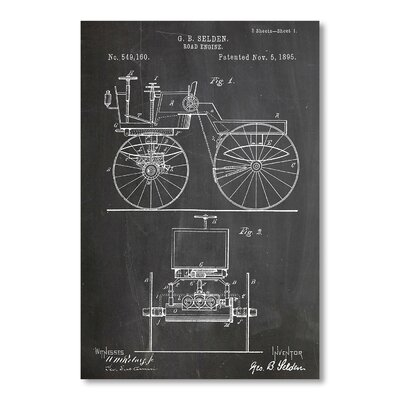 Americanflat Automobile by House of Borders Graphic Art in Grey