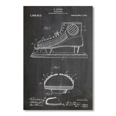 Americanflat Hockey Shoe by House of Borders Graphic Art