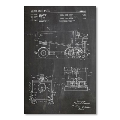 Americanflat Zamboni by House of Borders Graphic Art in Grey