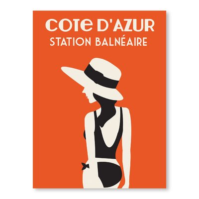 Americanflat Cote D'Azure, Station Balneaire by Alan Walsh Vintage Advertisement