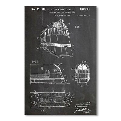 Americanflat Zephyr Train by House of Borders Graphic Art in Grey